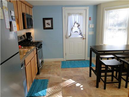 West Yarmouth Cape Cod vacation rental - Bright kitchen with all new appliances, seating for 4.