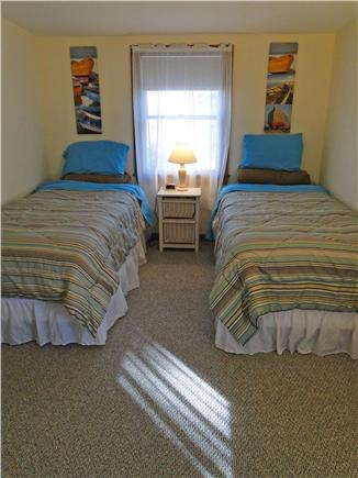 West Yarmouth Cape Cod vacation rental - Upstairs twin bedroom - extra long 80'' twin mattresses.