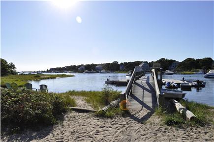Mashpee Cape Cod vacation rental - Waquoit bay dock & recreation area just 1/3 mile walk away