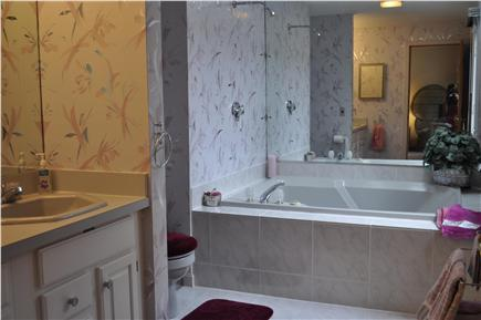 Mashpee Cape Cod vacation rental - Master bath with shower/tub and double sinks