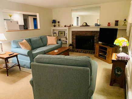 Dennis Cape Cod vacation rental - Living room with fireplace