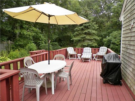 Yarmouth Cape Cod vacation rental - Back deck with furniture
