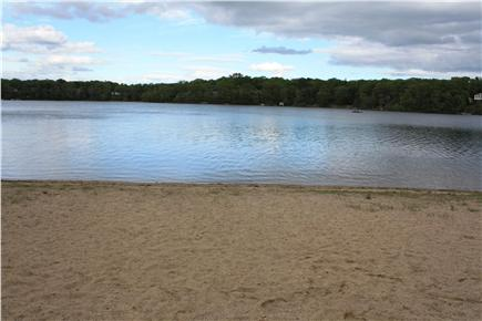 Falmouth Cape Cod vacation rental - Swim from the sandy beach on Jenkins Pond