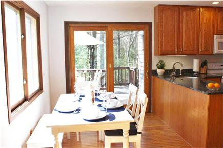 Falmouth Cape Cod vacation rental - Dining area - table expands to seat up to 8