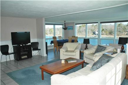 Falmouth Cape Cod vacation rental - Open concept living room with panoramic water views!
