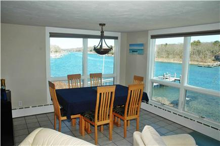 Falmouth Cape Cod vacation rental - Dining room with panoramic water views