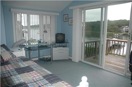 Falmouth Cape Cod vacation rental - 3rd bedroom - trundle converts to king or 2 twins - TV
