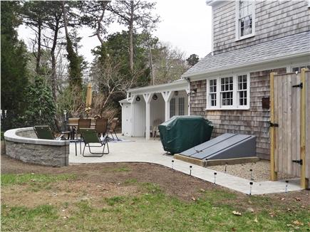 Brewster Cape Cod vacation rental - Back Patio and outdoor shower
