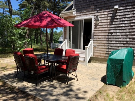 South Dennis Cape Cod vacation rental - Outdoor Patio with Grill Area