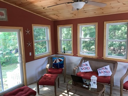 South Dennis Cape Cod vacation rental - 3 Season Room with TV