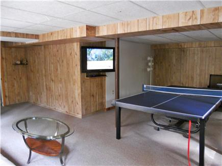 Eastham, Massachusetts Cape Cod vacation rental - Game Room with TV, Ping Pong Table. Bathroom on this level.
