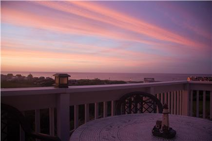 Plymouth MA vacation rental - Sunset colors from the deck