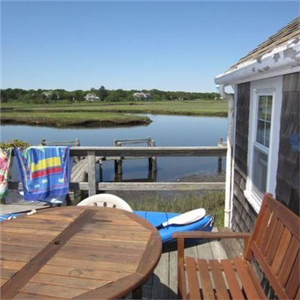 Dennisport Cape Cod vacation rental - Deck overlooking the water