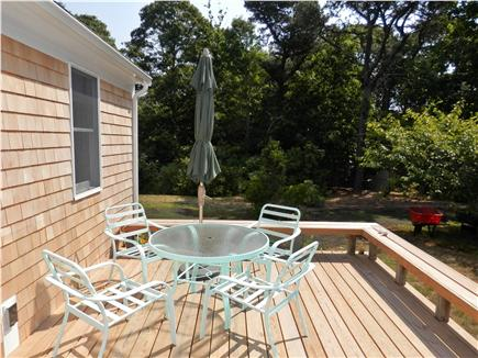Orleans Cape Cod vacation rental - Back deck for relaxing
