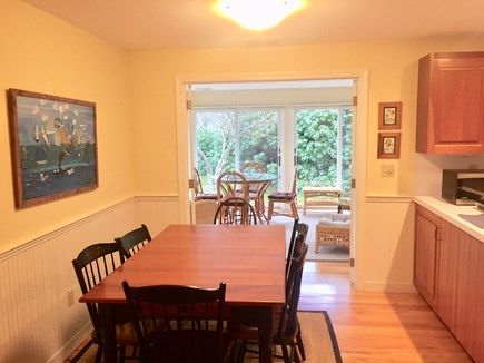 Orleans Cape Cod vacation rental - Dining area view out to Sunroom / Porch