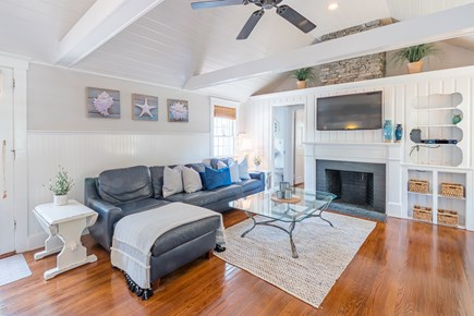 West Yarmouth Cape Cod vacation rental - New renovations w/ vaulted ceilings and stone chimney