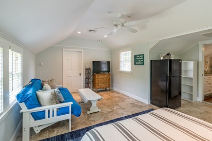West Yarmouth Cape Cod vacation rental - Bedroom #4 (Queen size bed w/ futon and T.V.)