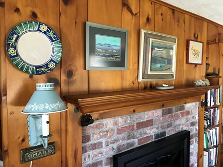 Nauset Heights (East Orleans) Cape Cod vacation rental - Original brick and pine detail.