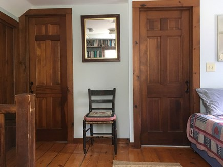 Nauset Heights (East Orleans) Cape Cod vacation rental - Doors lead to King BR (l.) and to the Bathroom (r.).