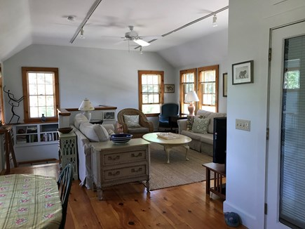 Nauset Heights (East Orleans) Cape Cod vacation rental - Expansive Family room. 8 oversize windows. Direct patio access.