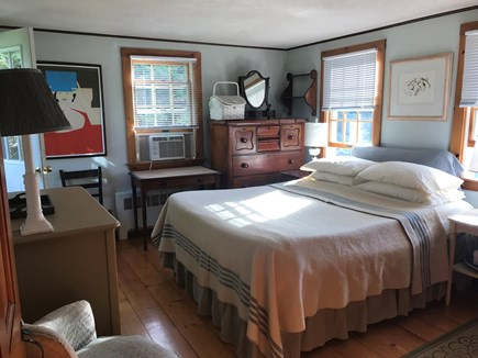 Nauset Heights (East Orleans) Cape Cod vacation rental - Main floor Wing BR (Queen) A/C unit.  Bathroom nearby.