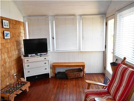 Dennis Cape Cod vacation rental - Sleeping Porch with TV