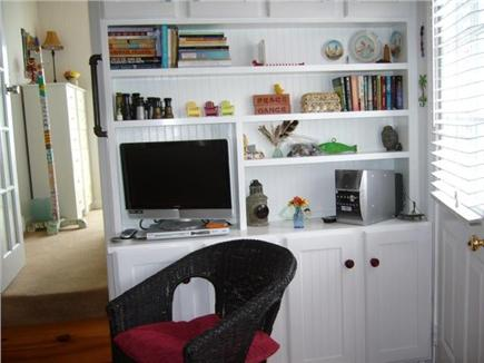 Provincetown Cape Cod vacation rental - Living room with TV, DVD and music docking station