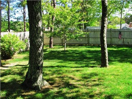 West Dennis Cape Cod vacation rental - Fenced yard
