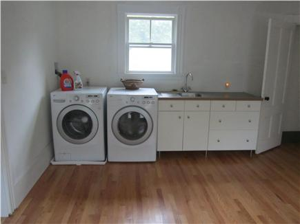 Woods Hole Woods Hole vacation rental - Second floor utility room with washer/dryer and sink