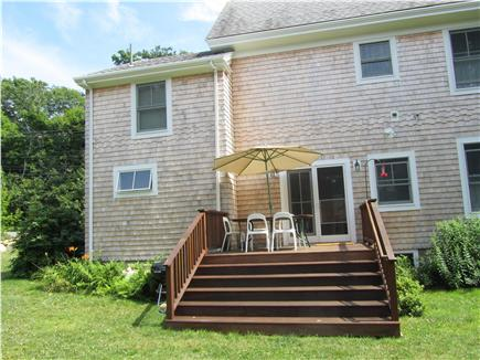 Woods Hole Woods Hole vacation rental - Deck in side yard