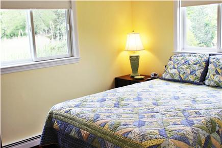 Orleans Cape Cod vacation rental - 1st bedroom with queen and flat screen TV mounted on wall