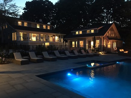 Orleans Cape Cod vacation rental - Outdoor living continues after dark.