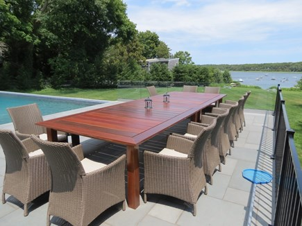 Orleans Cape Cod vacation rental - Up to 24 can dine poolside with a stunning view of Town Cove.