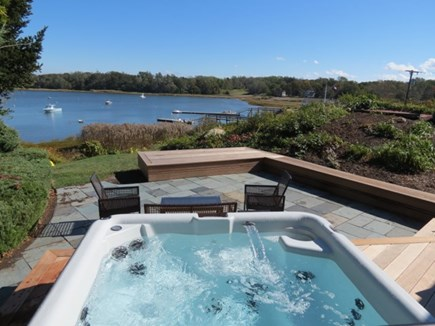 Orleans Cape Cod vacation rental - Third house in compound has this spa view of the cove.