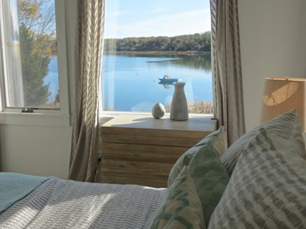 Orleans Cape Cod vacation rental - Third house MBR view of the cove from your pillow.