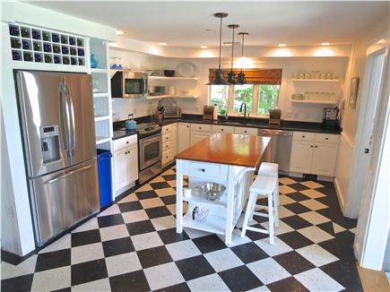 Orleans Cape Cod vacation rental - Main house kitchen has new appliances, granite counters.