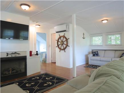 Orleans Cape Cod vacation rental - Carriage house loft has flat screen TV, lounge seating