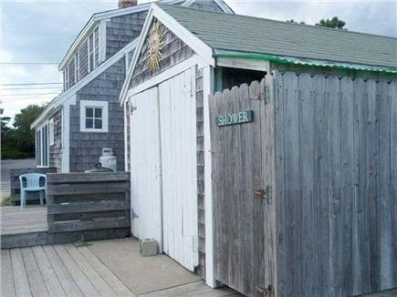 Dennisport Cape Cod vacation rental - Outside shower
