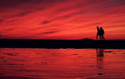 Dennis, Beach Street @ Mayflower beach Cape Cod vacation rental - Beautiful sunset