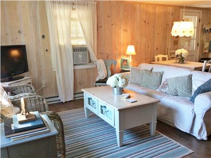 Dennis, Beach Street @ Mayflower beach Cape Cod vacation rental - Living room/dining table view