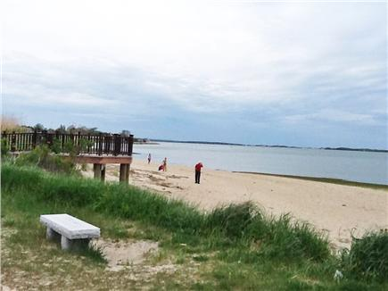 Barnstable Village Cape Cod vacation rental - Millway Beach looking toward Sandy Neck