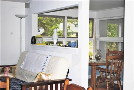 Eastham Cape Cod vacation rental - Partial view of living room and part of the dining room