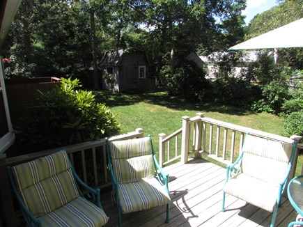 North Falmouth Cape Cod vacation rental - Deck and back yard