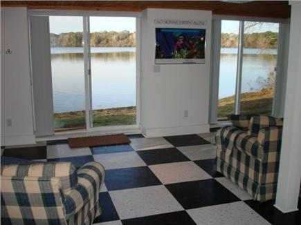 Eastham Cape Cod vacation rental - Walkout den with sliders to beach and pond just feet away
