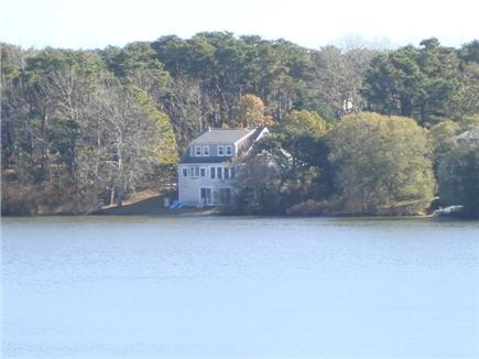 Eastham Cape Cod vacation rental - View the back of property from the other side of the pond