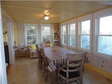 Eastham Cape Cod vacation rental - Dining room overlooks pond and beyond