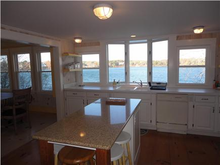 Eastham Cape Cod vacation rental - Kitchen.. look at the water!