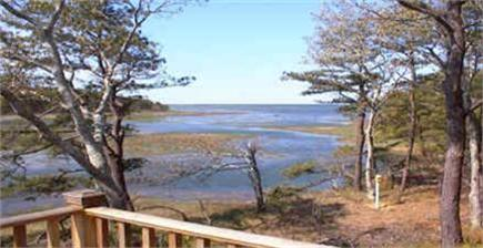 Wellfleet Cape Cod vacation rental - High tide view from deck..bay in distance