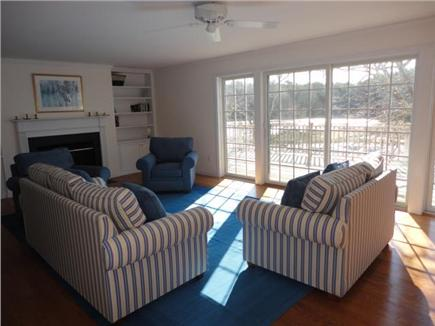 Wellfleet Cape Cod vacation rental - Living room with views and deck access