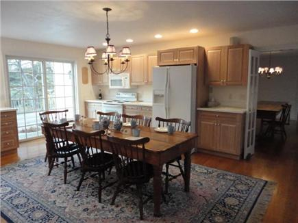 Wellfleet Cape Cod vacation rental - Eat-in kitchen with deck access and views. Laundry too.
